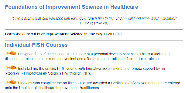 Foundations of Improvement Science in Healthcare online course
